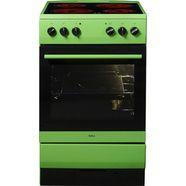amica vrijstaand elektrisch fornuis shc 11508 g steamclean groen