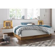 schlafkontor ledikant capri met 2 nachtkastjes en geïntegreerde ledverlichting beige