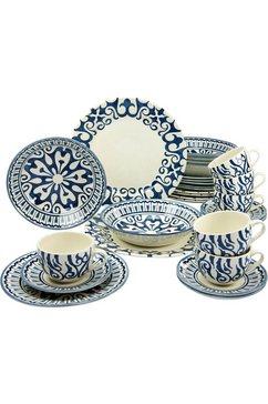combi-servies, aardewerk, 30 delen, »HENNA BLUE«