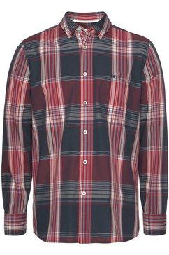 mustang geruit overhemd rood