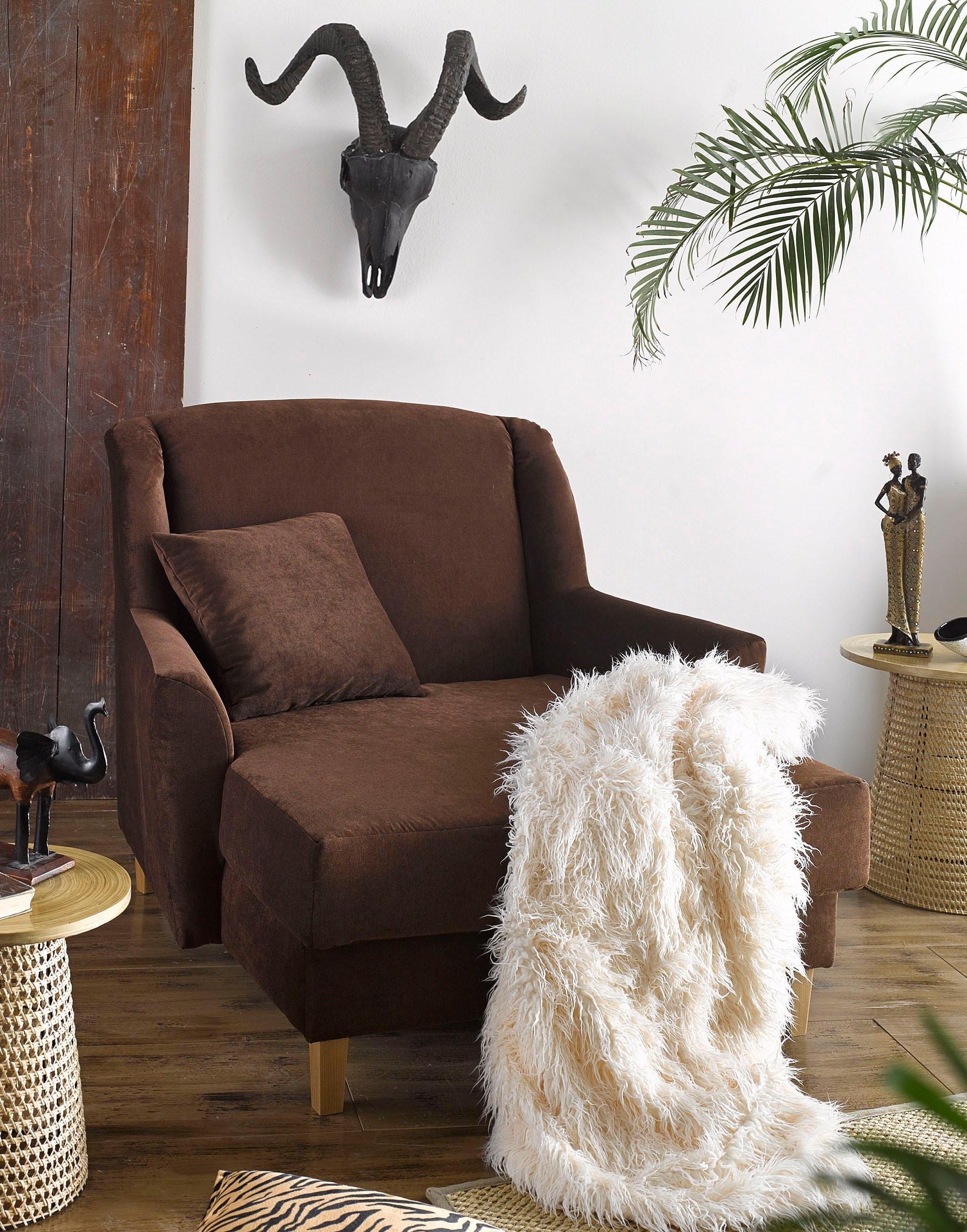 Max Winzer ® XXL-fauteuil »Julia«, IBIZA, met notenkleurige of naturelkleurige houten poten veilig op otto.nl kopen