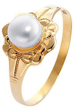 ring met parel goud