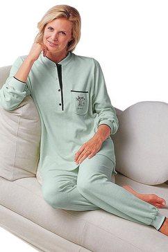 pyjama, ringella, single-jersey groen