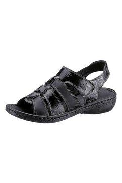 casual looks sandalen met aantrekkelijke siernaden zwart