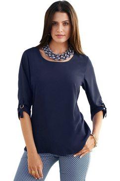 création l blouse met ritssluiting op de rug blauw