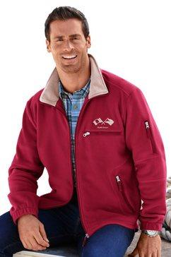 marco donati fleece-jack van polyester rood