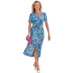classic basics jurk met zijsplitten blauw
