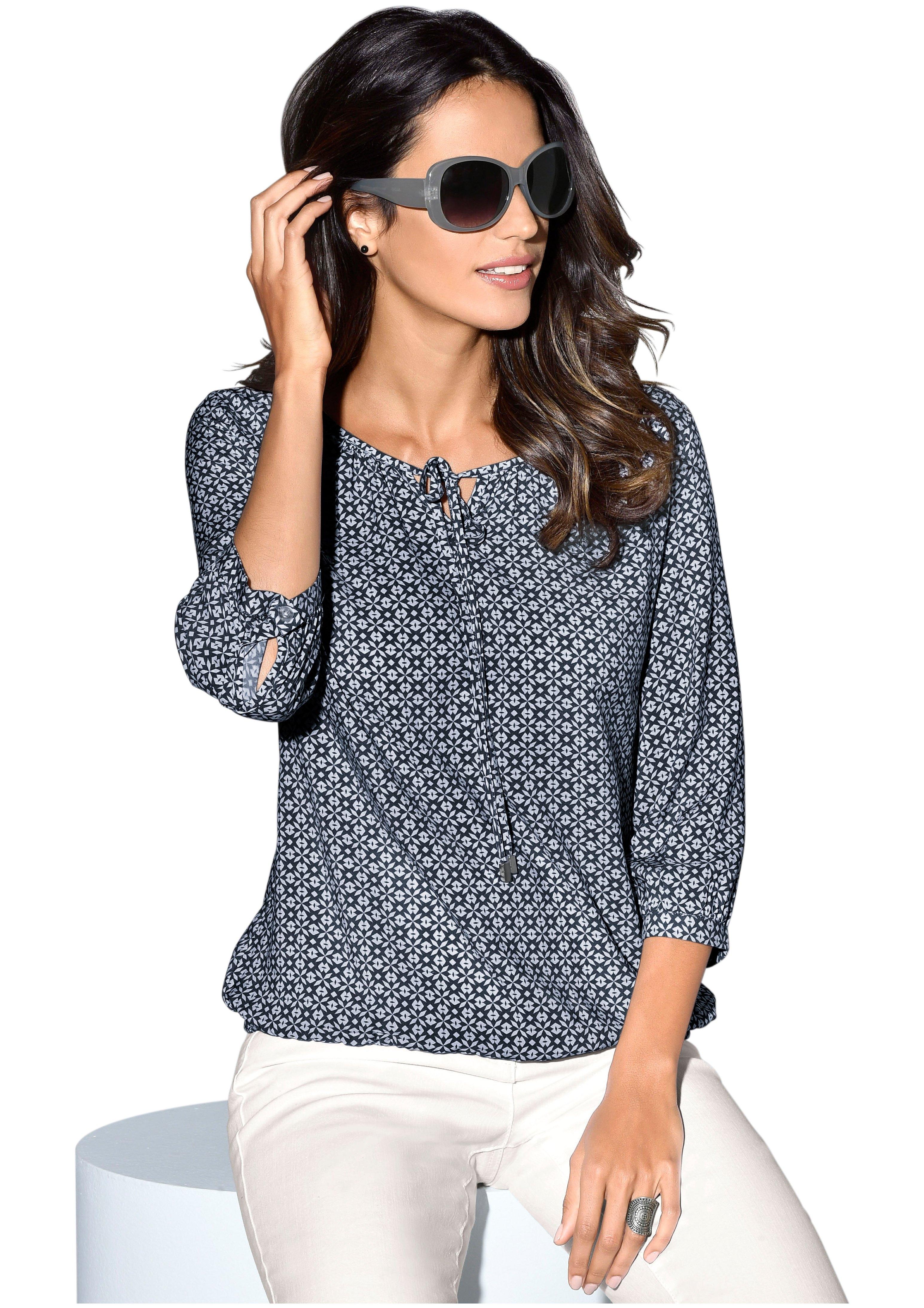 Classic Inspirationen blouse met grafisch minimal-dessin - gratis ruilen op otto.nl