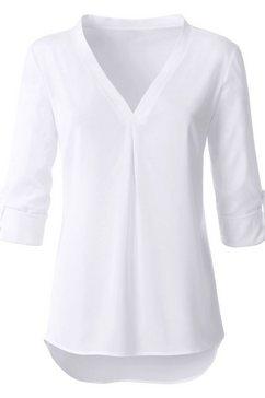 ambria lange blouse met v-hals wit