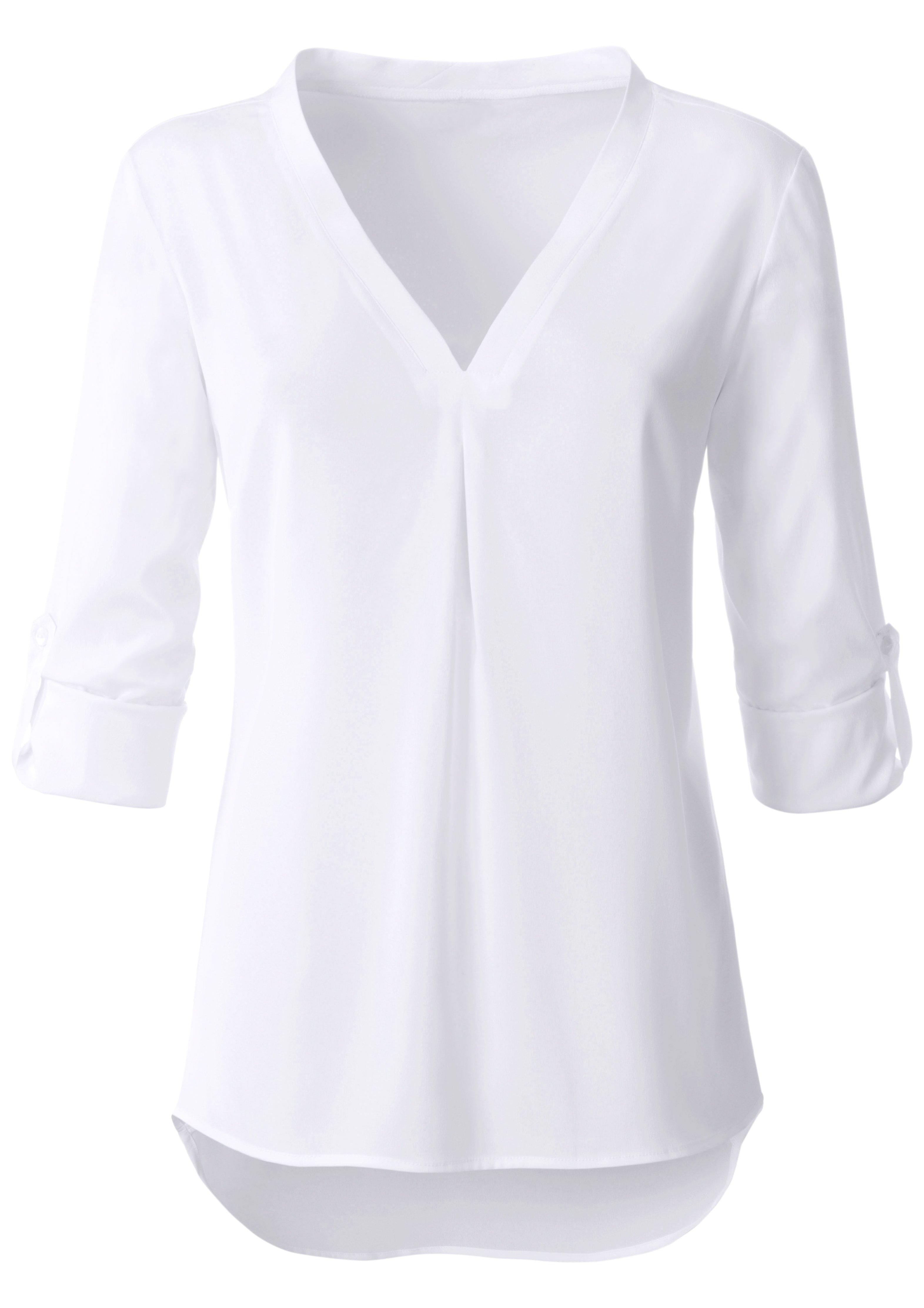 lange blouse korte mouw