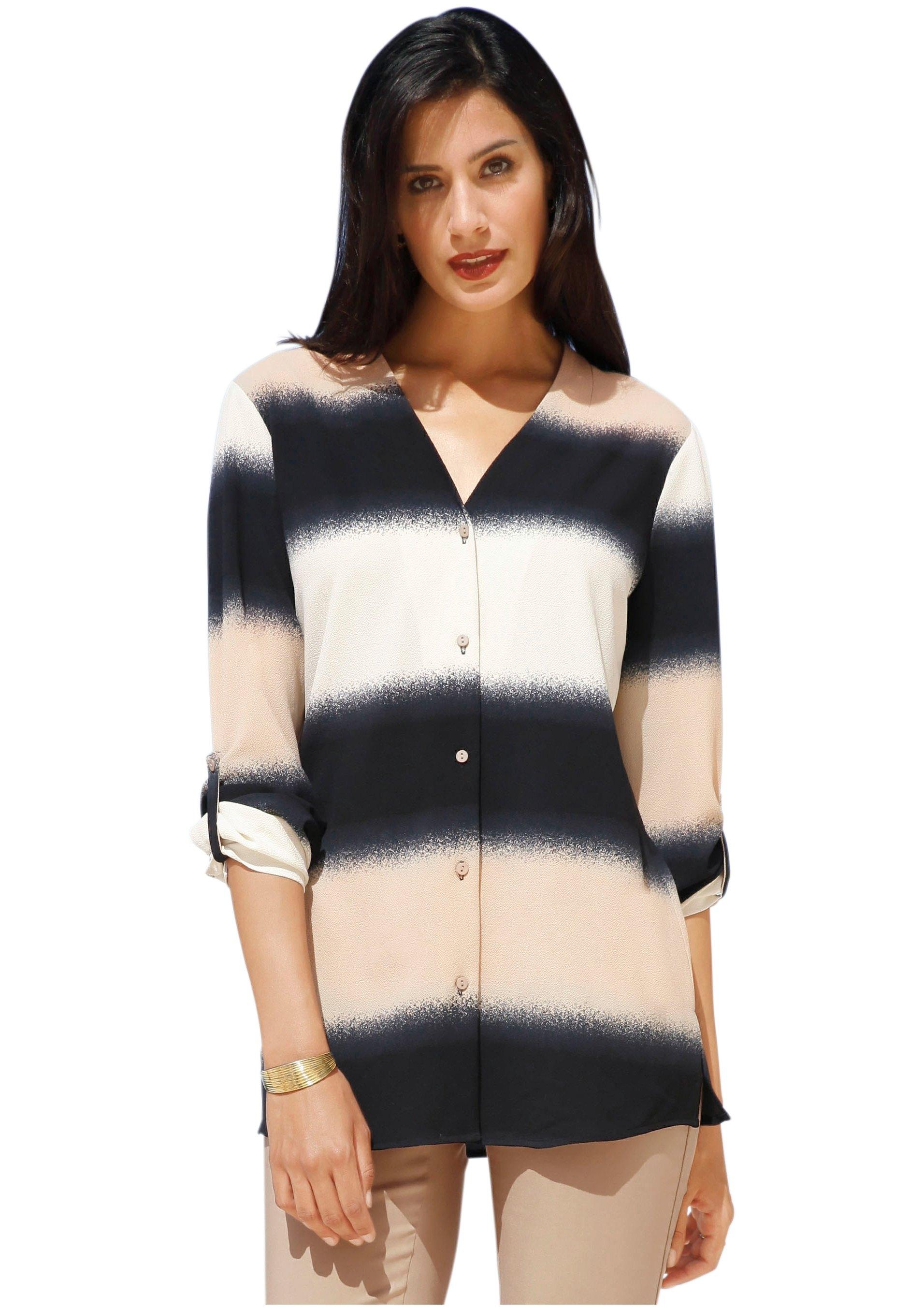 creation L Création L lange blouse met »sprayed«-effect bestellen: 30 dagen bedenktijd