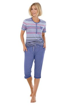 hajo capri-pyjama blauw