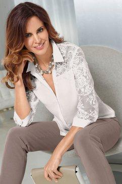 blouse in stijlvol transparante crêpe-georgettekwaliteit
