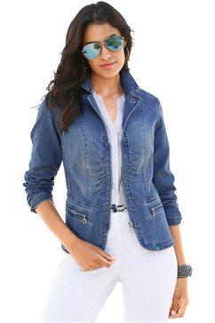 jeansblazer in moderne wassing, voor dames blauw