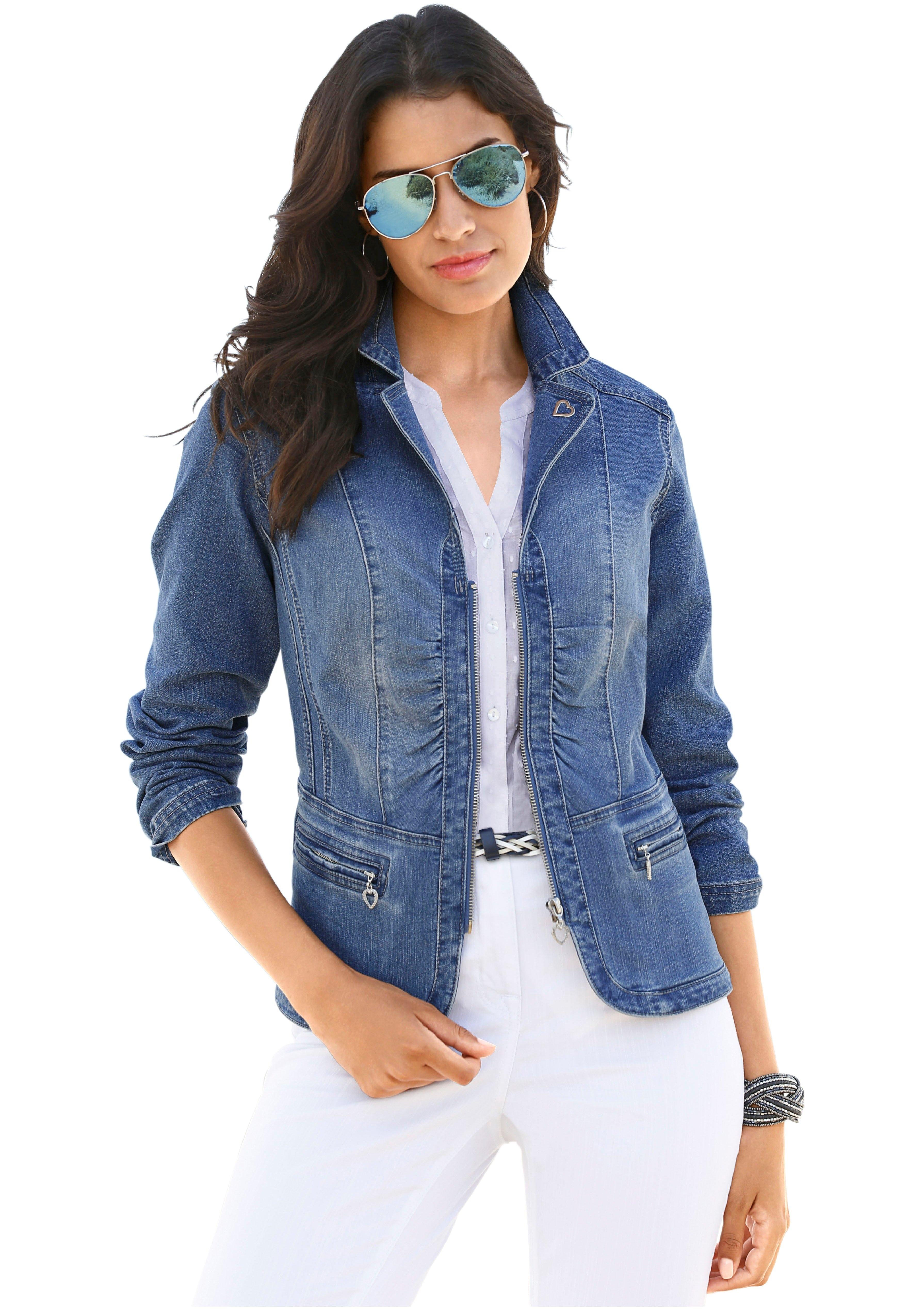 Lady Jeansblazer in moderne wassing, voor dames voordelig en veilig online kopen