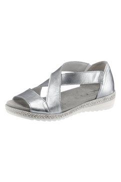 aco sandaaltjes met elastiek zilver