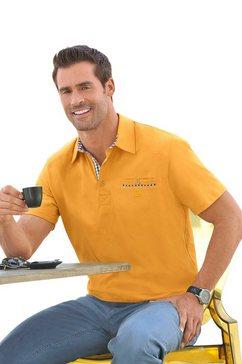 marco donati shirt met korte mouwen en polokraag geel