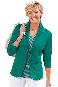 casual looks jerseyblazer in comfortabele en gemakkelijk te onderhouden kwaliteit groen
