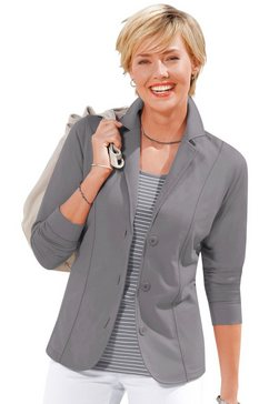 casual looks jerseyblazer in comfortabele en gemakkelijk te onderhouden kwaliteit grijs