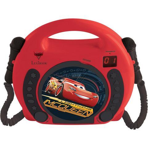 LEXIBOOK, karaoke-CD-speler voor kinderen met 2 microfoons, »Disney Pixar Cars«