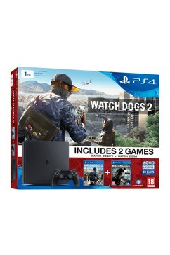 PS4, Console + 1TB+Watch Dogs 1+ Watch Dogs 2