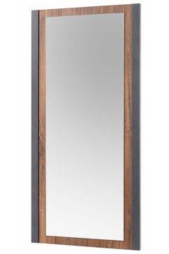 home affaire spiegel detroit in een trendy industrile look bruin