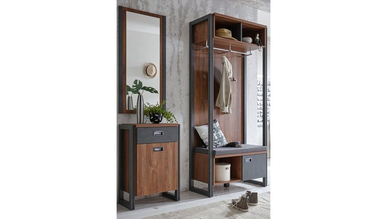 home affaire kapstok detroit 90 cm breed in trendy industri le look makkelijk gevonden otto. Black Bedroom Furniture Sets. Home Design Ideas