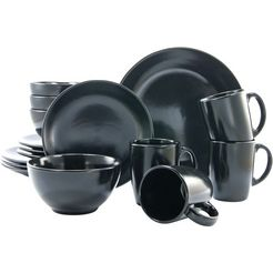 creatable combi-servies, aardewerk, 16-delig, mat-zwart zwart