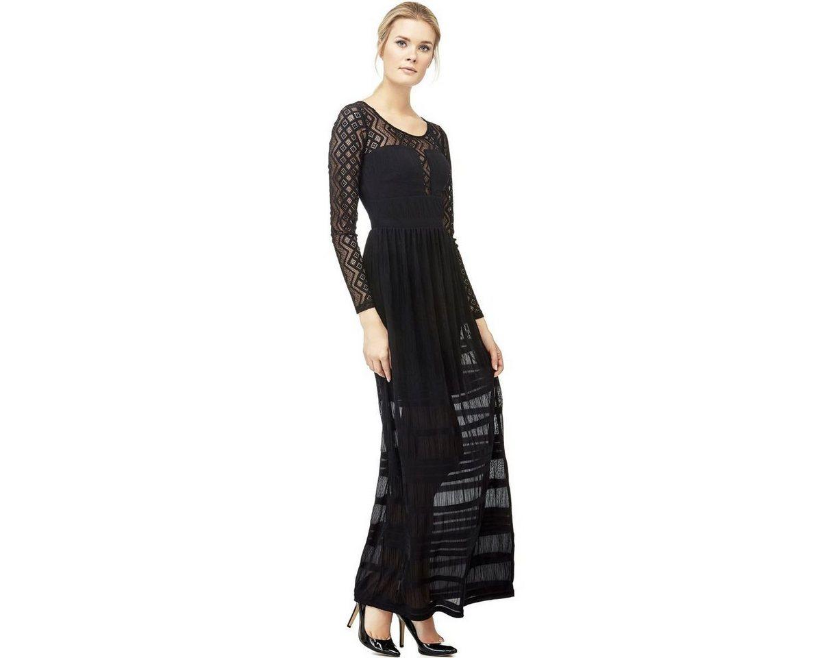Guess jurk inzetten bloemetjeskant zwart