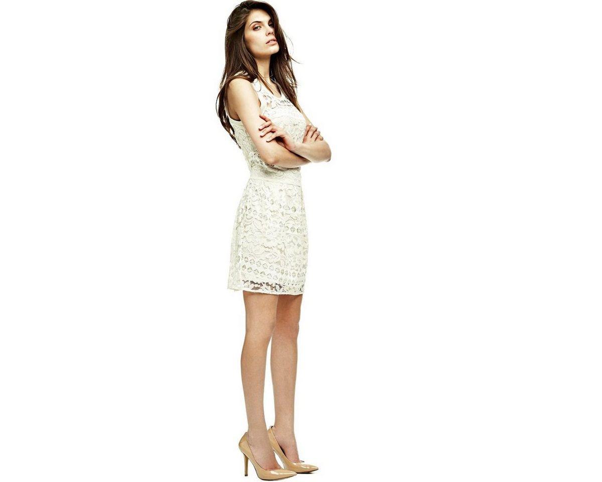 Guess jurk van kant wit