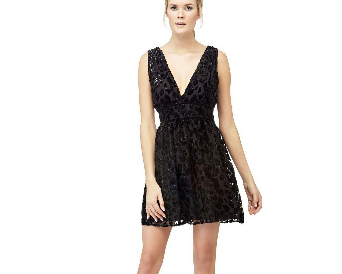 Guess jurk in transparante look zwart