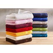 handdoek, dyckhoff, »planet«, met eenvoudig randdessin groen