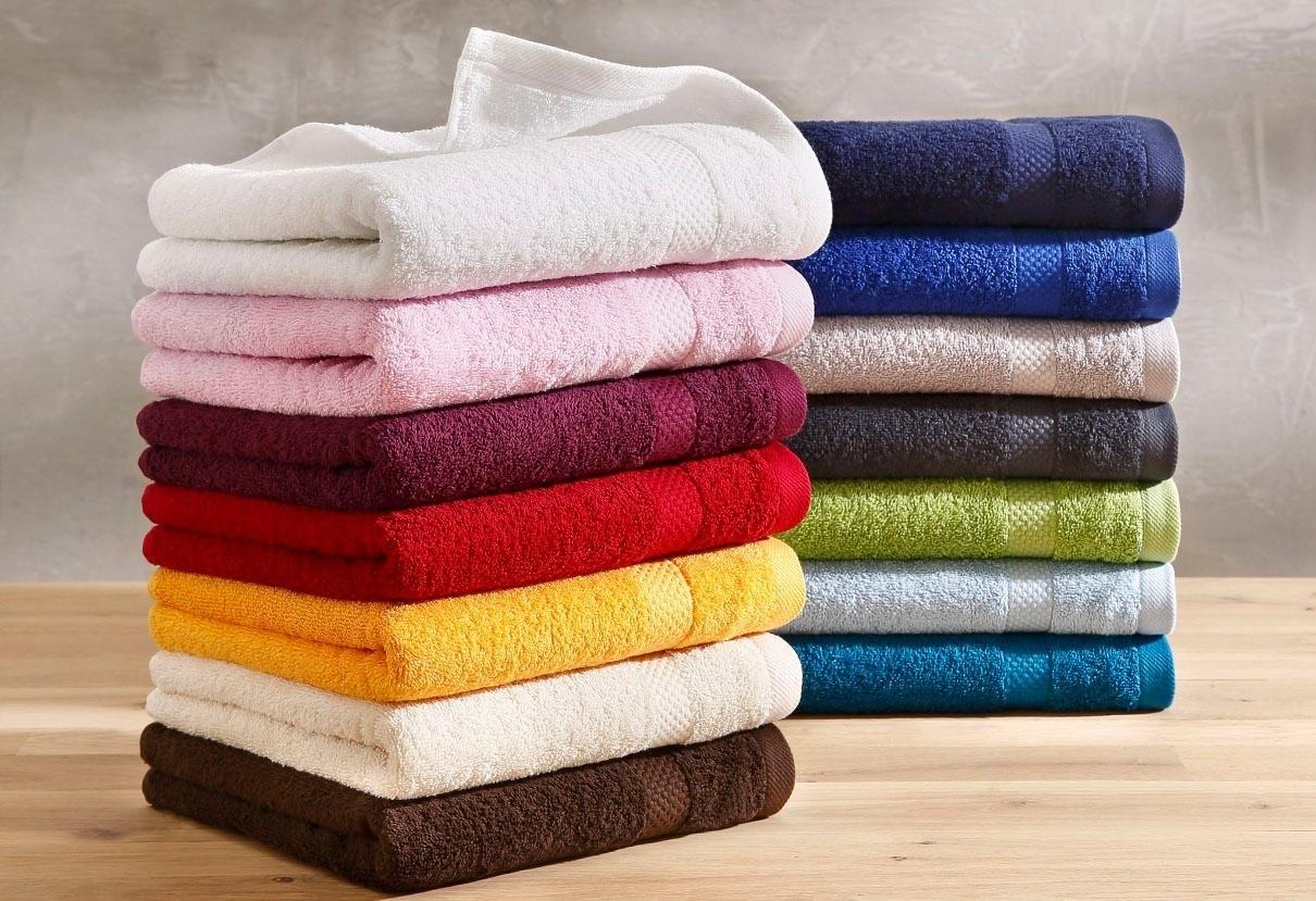 Dyckhoff Handdoek, »Planet«, met eenvoudig randdessin bestellen: 30 dagen bedenktijd