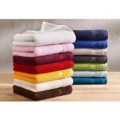 handdoekenset, dyckhoff, »planet«, met eenvoudig randdessin groen