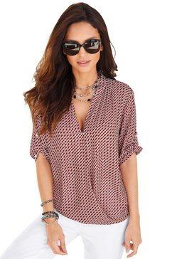alessa w. blouse in wikkel-look rood