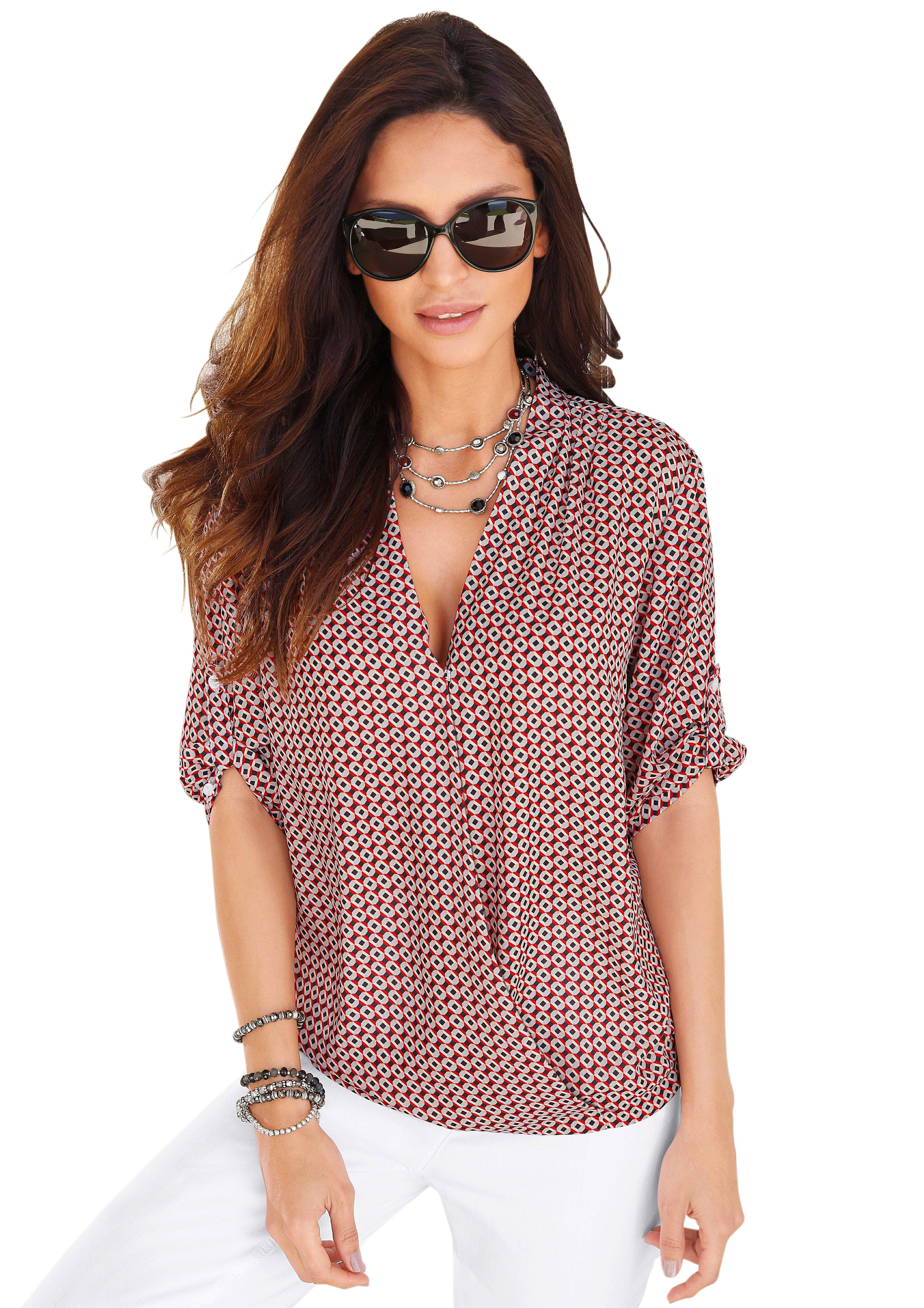 Alessa W. blouse in wikkel-look nu online kopen bij OTTO