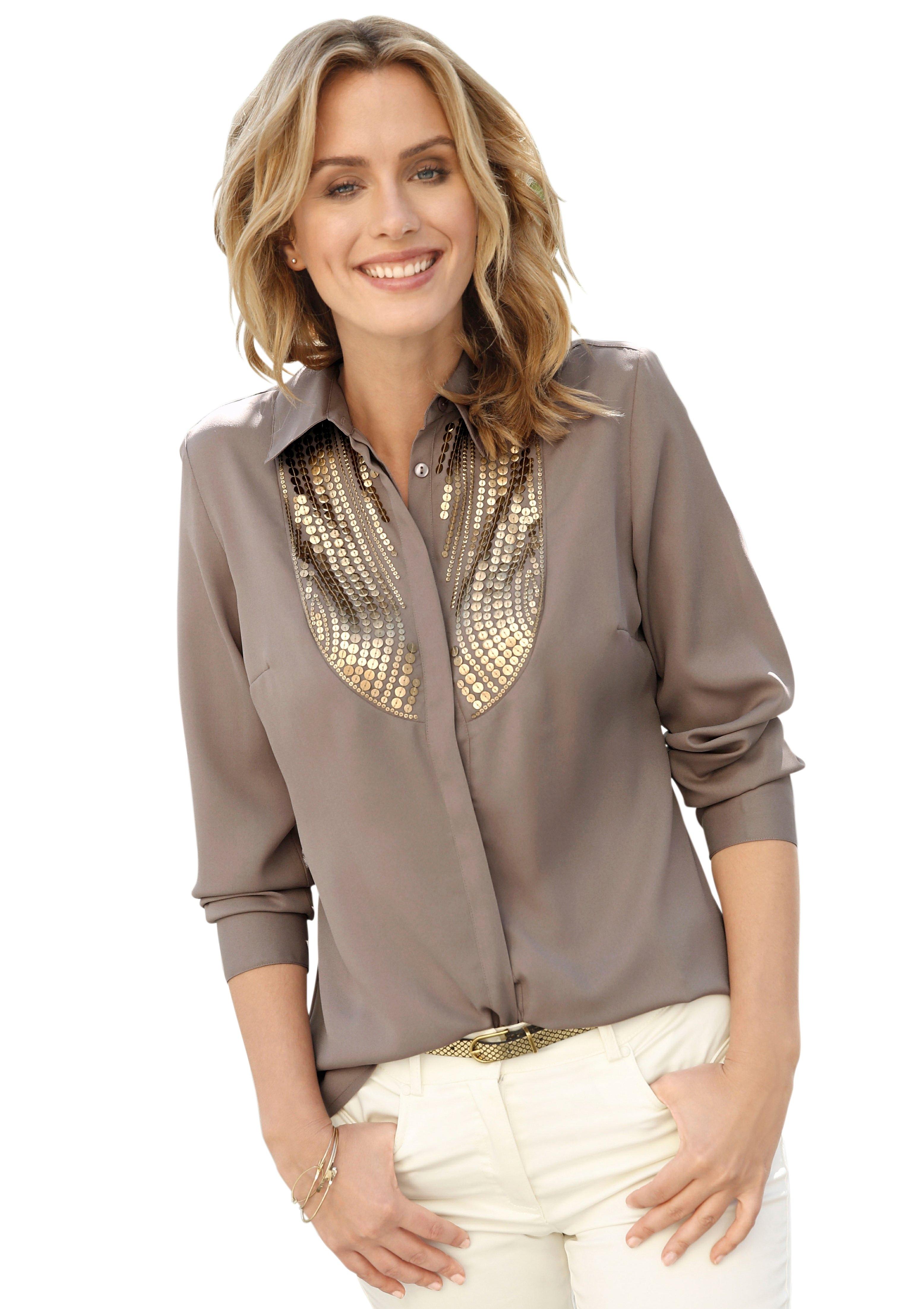 Création L blouse met glanzende pailletten nu online bestellen