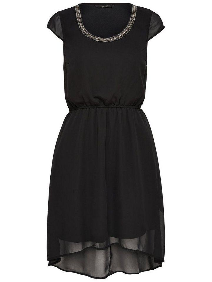 ONLY Korte Mouwloze jurk zwart