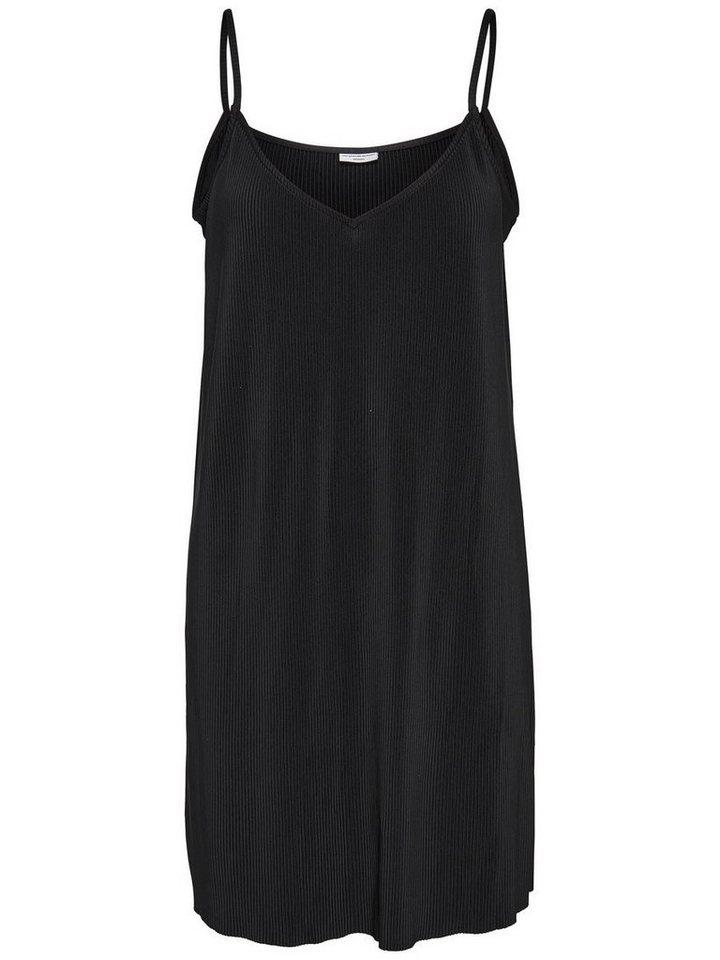 ONLY Plooi Mouwloze jurk zwart