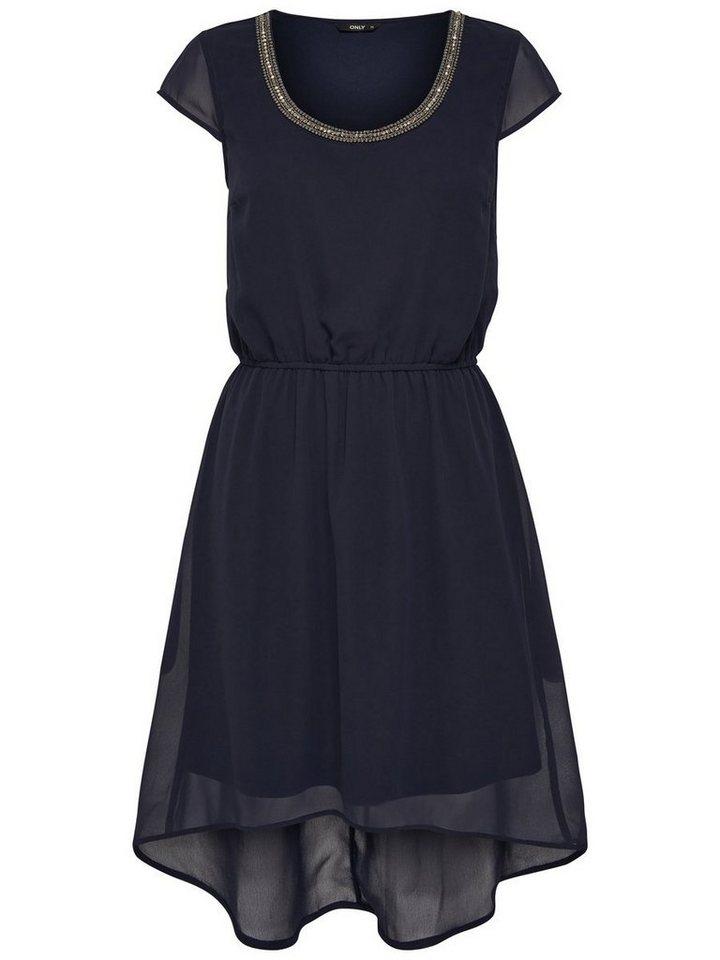 ONLY Korte Mouwloze jurk blauw