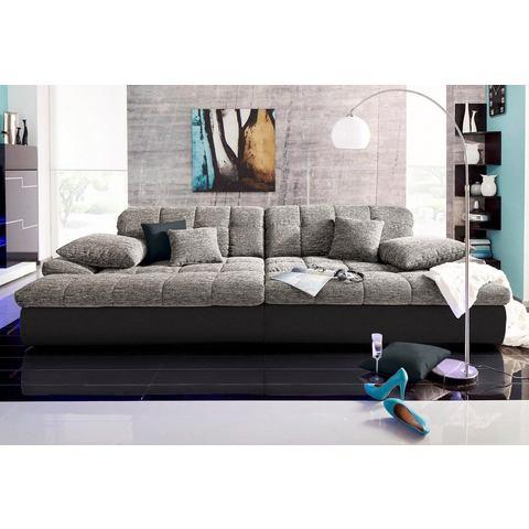 woonkamer extra groot bankstel zwart Megabank 49