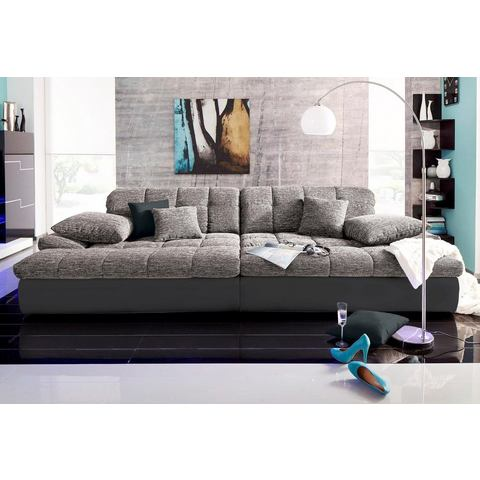 woonkamer extra groot bankstel grijs Megabank 109