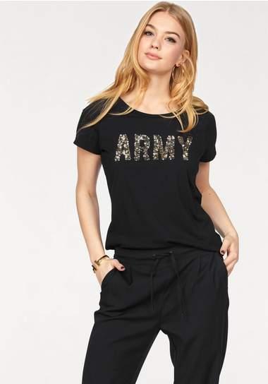 VERO MODA shirt met ronde hals »ARMY«