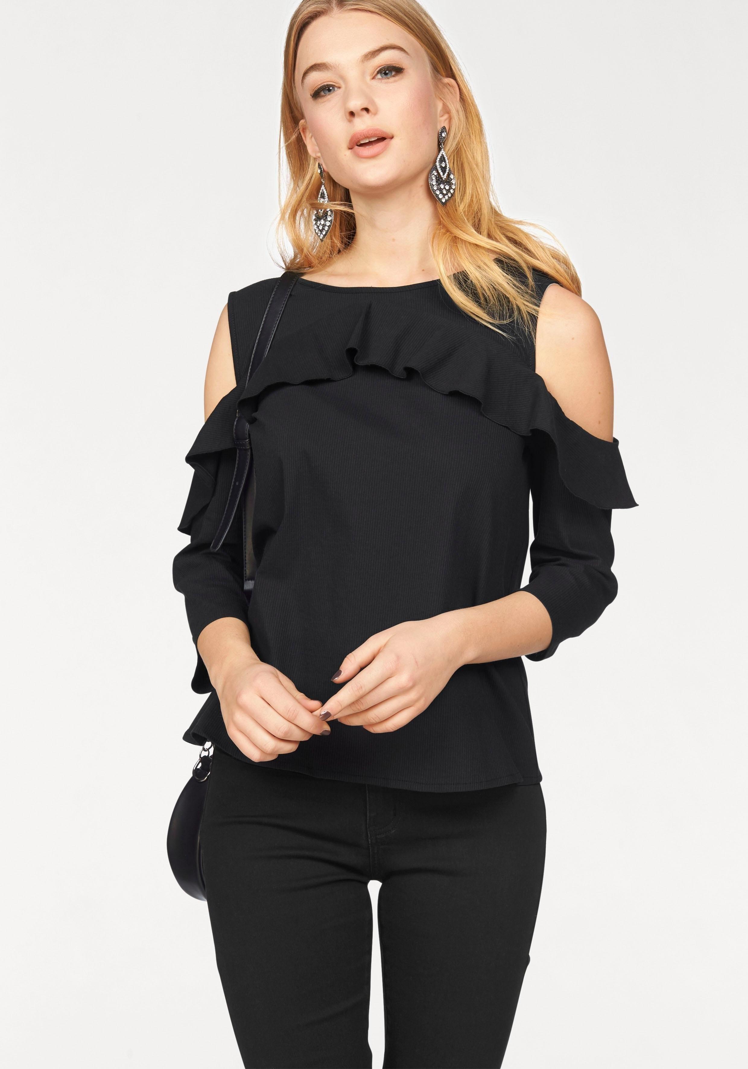 VERO MODA blouse met ruches »BLIS« - verschillende betaalmethodes