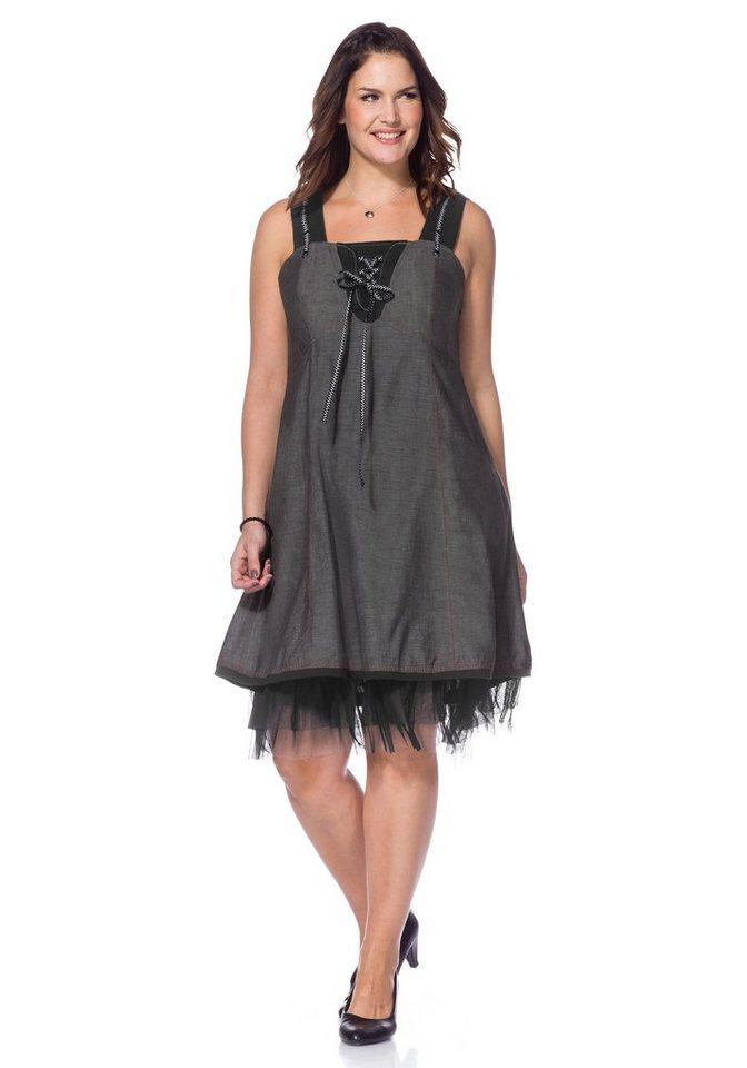 Joe Browns Joe Browns jurk met zilverkleurige details grijs