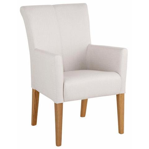 HOME AFFAIRE stoel met armleuningen King overtrokken met geweven of structuurstof of imitatieleer