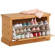 home affaire schoenenbank »basilico« van massief grenen beige