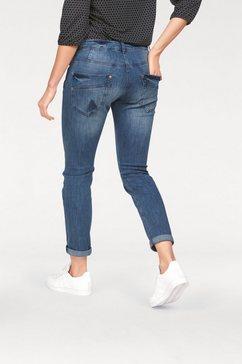 mac stretch jeans »sexy carrot« blauw