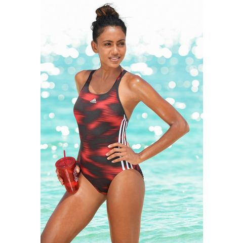 adidas Essence Flare Graphic Badpak, Zwart, 44, Female, Zwemmen