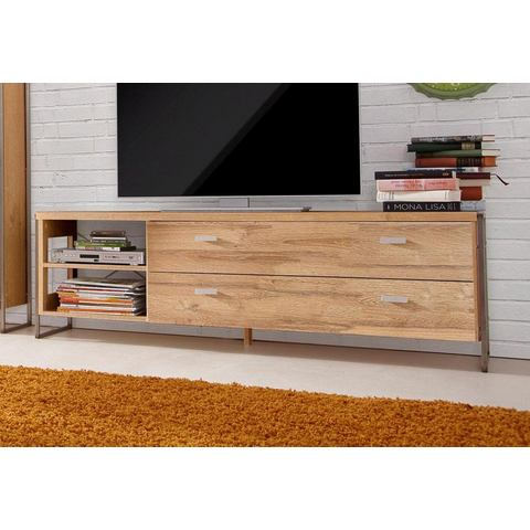 Lowboard Frame breedte 148 cm balken-eikenkleur TV-kast 376